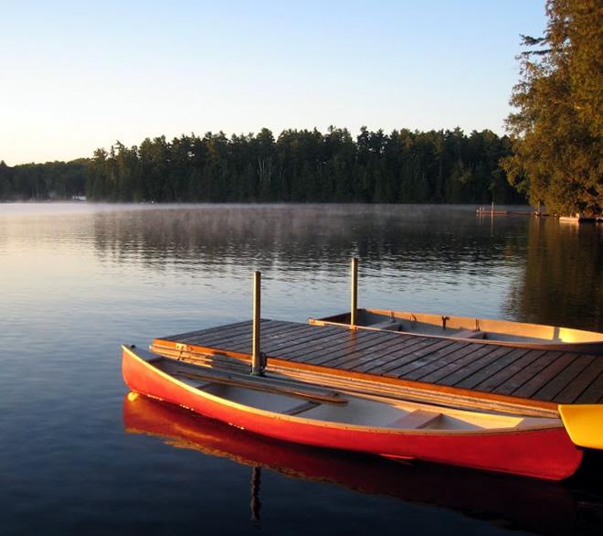 Canoeing on Kashwakamak Lake