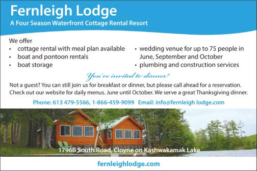 Fernleigh Lodge Log Cabin Resort - Cloyne Ontario